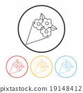 flower bouquet line icon 19148412