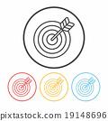 Archery line icon 19148696
