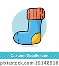 baby sock doodle 19148916