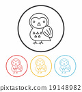 halloween bird line icon 19148982