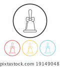 Christmas bell line icon 19149048
