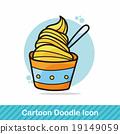 ice cream doodle 19149059
