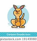 animal kangaroo doodle 19149080