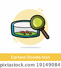 Petri dishes doodle 19149084