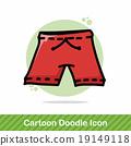 short pants color doodle 19149118