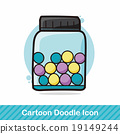 Glass jars color doodle 19149244