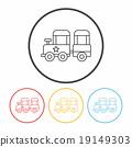 amusement park train line icon 19149303