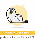 animal seal doodle 19149320