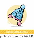 winter hat doodle 19149389