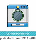 washing machine doodle 19149408
