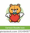 teddy bear doodle 19149497