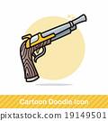 gun doodle 19149501