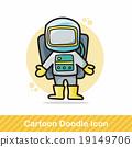 astronaut doodle 19149706