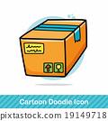 Goods box doodle 19149718