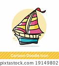 boat color doodle 19149802