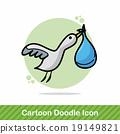 Stork doodle 19149821