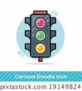 traffic light doodle 19149824