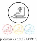 ice-skate line icon 19149915
