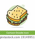 sandwich doodle 19149951