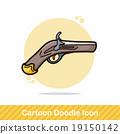 gun doodle 19150142