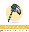 Fishing net doodle 19150253