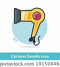 Hair dryer doodle 19150446