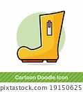 Rain boots doodle 19150625