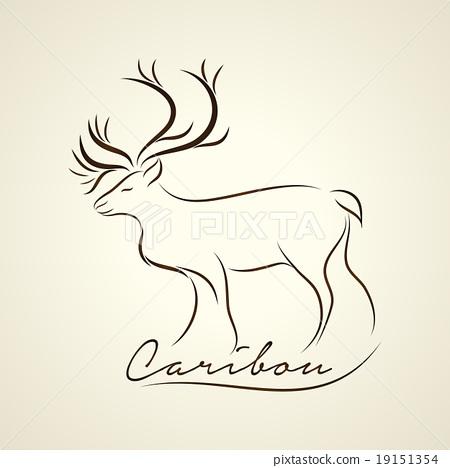 Caribou logo vector 19151354