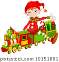 Christmas Elf and Toy Train 19151891