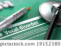 Vocal disorder. Medical Concept on Green 19152380