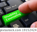 Disability Counseling - Clicking Green Keyboard 19152424