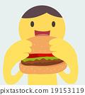 Eating burger 19153119