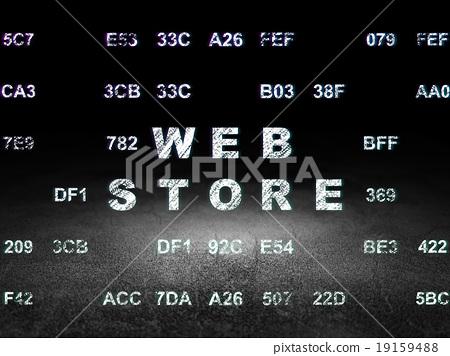 Web development concept: Web Store in grunge dark 19159488