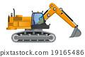 Excavator model vector design with working 19165486