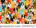 International crowd of people, flat illustration 19165527