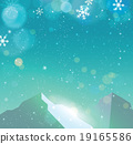 Winter snowfall drop mountain on blue backgrund 19165586