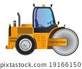 Steamroller yellow car vector design model 19166150