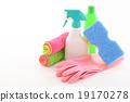 保洁工具 清潔產品 富有色彩的 19170278