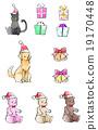 คริสต์มาส,ของขวัญ,ลูกแมว 19170448