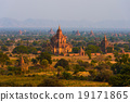 Bagan city with thousands of ancient pagoda 19171865