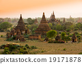 Bagan city with thousands of ancient pagoda 19171878