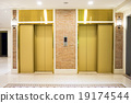 Two of luxury elevator in modern building 19174544