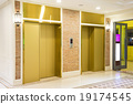 Two of luxury elevator in modern building 19174545