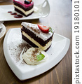 chocolate cake and rasberry cake 19180101