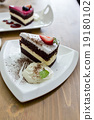 chocolate cake and rasberry cake 19180102