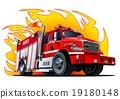vector, truck, fire 19180148