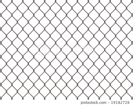 Fence from rusty mesh 19182726
