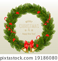Gift card with Christmas Wreath and Bow.  19186080