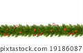Christmas Border with tree branches 19186087