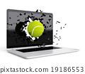tennis ball destroy laptop 19186553